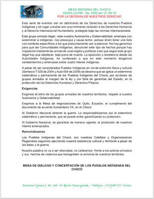 Cerradas Vías Que Comunican Al Chocó Con Antioquia Y Risaralda Por Minga Indígena