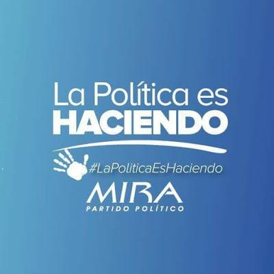 Logo Partido Politico Mira - Lema La Politica Es Haciendo