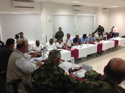 ►Ministro De Defensa Presidió Primer Consejo De Seguridad Del Año En El Chocó
