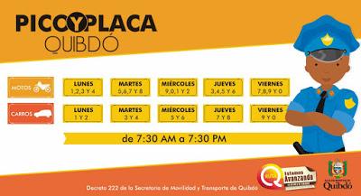 Pico Y Placa Quibdó - Chocó