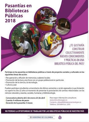 Convocatoria Para Pasantías En Bibliotecas Públicas De Todo El País 2018 Somos Pacifico
