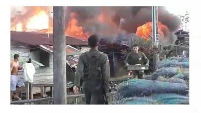 Incendio Consumió Estación De Policía de Murindó